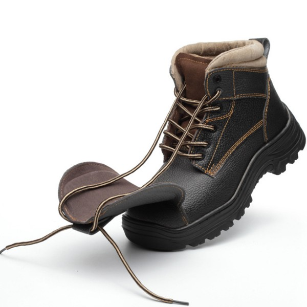 Leather Anti-Smashing Steel Toe Electric Welding Work Boots Safety Shoes