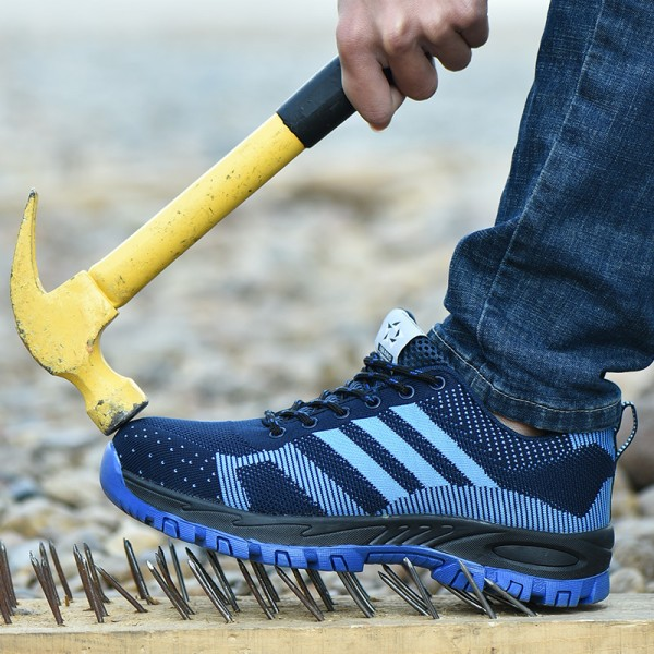 Light Deodorant Puncture Proof Anti-Smashing Steel Toe Work Safety Shoes