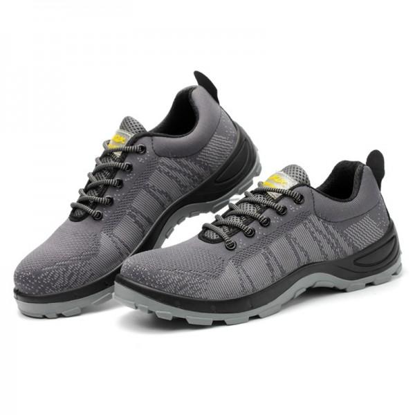 Fashion Flyknit Safety Work Shoes Slip Resistant Steel Toe Shoes Sneaker